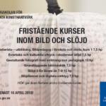 Fristående kurser och Lärarlyftet inom Slöjd eller Bild på HDK